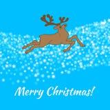看板卡快活圣诞节的问候 向量例证