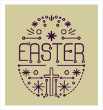看板卡愉快复活节的问候 免版税库存图片