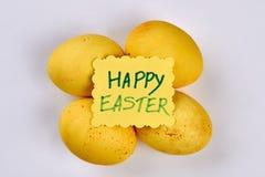 看板卡招呼的复活节彩蛋 免版税库存图片