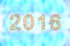 看板卡招呼的新年度 免版税库存照片