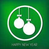看板卡新年好 免版税库存照片