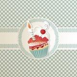 看板卡杯形蛋糕 免版税库存照片