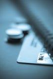 看板卡概念赊帐财务 免版税图库摄影