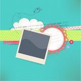 看板卡照片安排文本向量 免版税库存照片