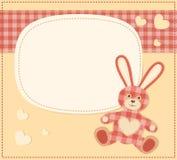 看板卡用婴儿送礼会的野兔 库存照片