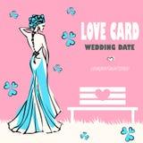 看板卡祝贺喜爱婚姻 库存照片