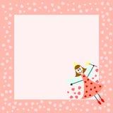 看板卡神仙粉红色 库存照片