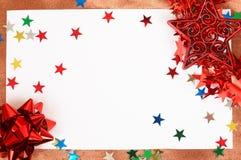看板卡空白圣诞节的装饰 库存图片