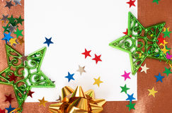 看板卡空白圣诞节的装饰 免版税库存照片