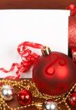 看板卡空白圣诞节的装饰 库存照片