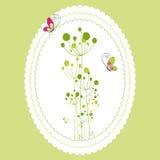 看板卡花卉问候春天 库存图片