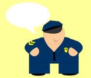 看板卡警察愉快的消息 免版税库存图片