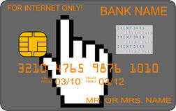 看板卡赊帐互联网使用 库存图片