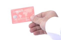 看板卡赊帐无名的红色 免版税图库摄影