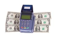 看板卡赊帐美元阅读程序 库存图片