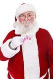 看板卡赊帐藏品圣诞老人 免版税库存图片