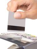 看板卡赊帐设备 库存照片