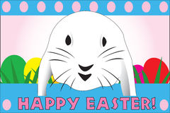 看板卡逗人喜爱的复活节极大的快速兔子 免版税图库摄影