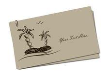 看板卡邀请海岛 免版税库存照片
