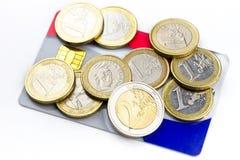 看板卡铸造赊帐欧元 免版税图库摄影