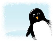 看板卡问候企鹅向量 向量例证
