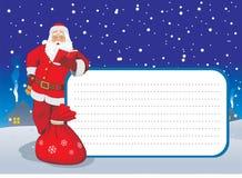 看板卡问候圣诞老人 库存例证
