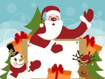 看板卡cristmas greeteng新年度 图库摄影