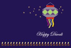 看板卡diwali问候 免版税库存照片