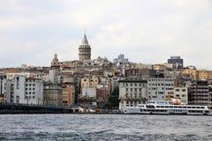 看横跨Bosphorus河 库存图片