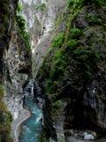 看沿Taroko峡谷 库存图片