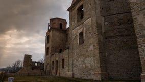 看法一个城堡墙壁 库存照片
