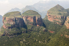 看法三Rondavels,布莱德河峡谷,南非 库存照片