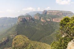 看法三Rondavels,布莱德河峡谷,南非 免版税库存图片