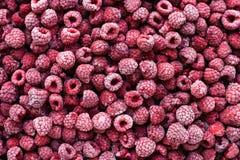 看法从上面在冷冻莓 免版税库存照片