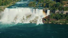 看法从上面在尼亚加拉瀑布 从加拿大边 股票录像