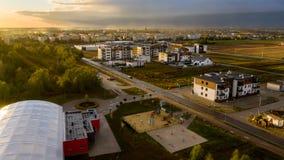 看法从上面在房地产在奥斯特罗维茨 库存照片