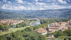 看法佛罗伦萨小山 免版税库存图片