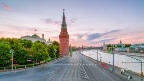 看法克里姆林宫的Vodovzvodnaya塔 免版税图库摄影