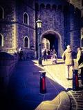 看法其中一个对温莎城堡的入口 免版税库存照片