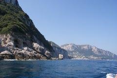 看法到卡普里岛海岛  库存照片