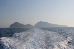看法到卡普里岛海岛  免版税库存图片