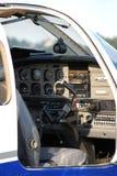 看法到支柱班机的驾驶舱里 免版税库存照片