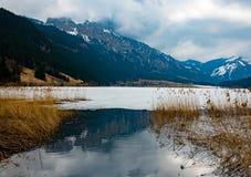 看法到美好的奥地利风景里 免版税库存图片