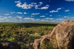 看法到Undara火山的国家公园里,昆士兰,南方 免版税库存照片