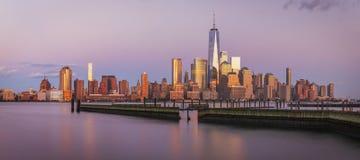 看法向从新泽西的曼哈顿 免版税图库摄影