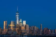 看法向从新泽西的曼哈顿 免版税库存图片