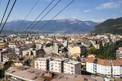 看法向波尔查诺,南蒂罗尔,意大利 库存图片