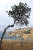 看法向瓦莱塔,马耳他 免版税库存照片