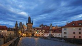 看法向街市的布拉格 库存照片