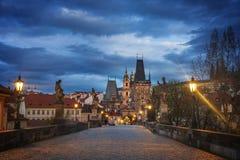 看法向街市的布拉格 免版税库存图片